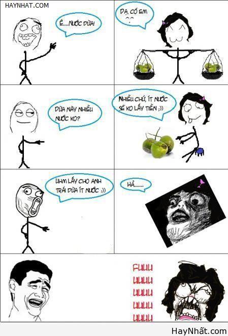 Troll em bán nước dừa