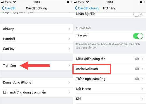 Cách bật nút home ảo trên iPhone 8 Plus