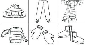 Tranh tô màu quần áo cho bé trai và bé gáitập tô màu